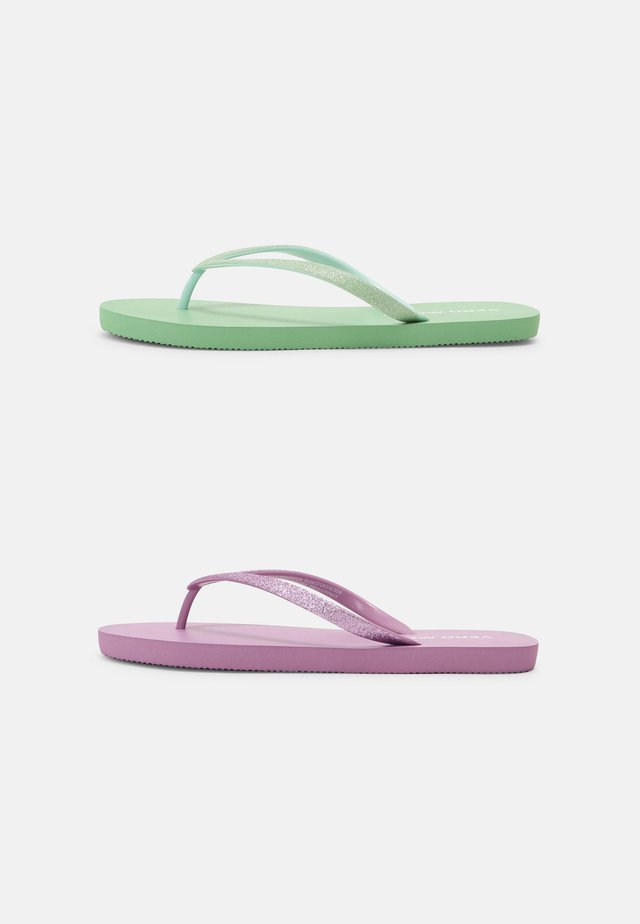 VMSIW 2-PACK - Teenslippers - pastel green/purple