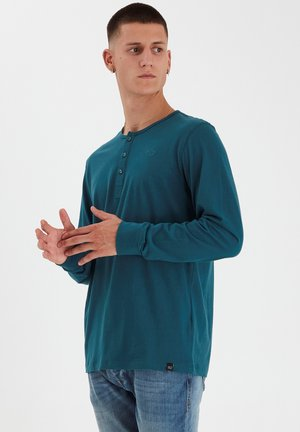 REGULAR FIT - Langærmede T-shirts - deep teal