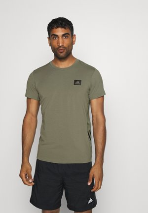 TRAINING SLIM SHORT SLEEVE TEE - Funkční triko - green