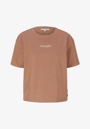 Basic T-shirt - clay rose