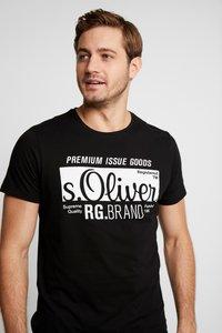 s.Oliver - KURZARM 2 PACK - Print T-shirt - black - 3