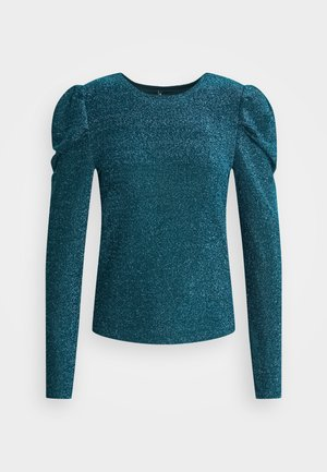 ONLDARLING GLITTER PUFF - Long sleeved top - black/bristol blue