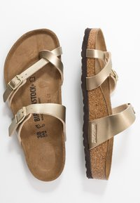 Birkenstock - MAYARI - T-bar sandals - gold - 3