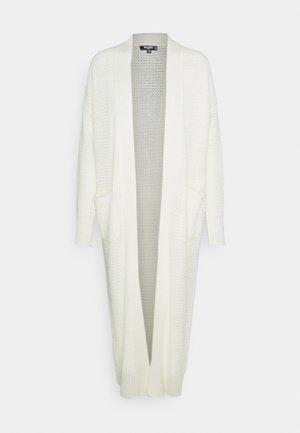 LONGLINE CARDIGAN - Cardigan - off white