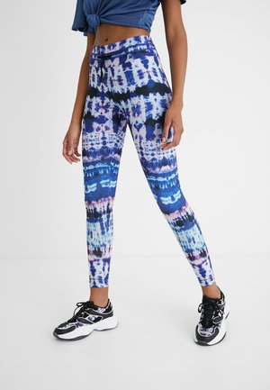 TULL TIEDYE - Leggings - Trousers - blue