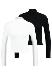 Topshop - FUNNEL 2 PACK - Langarmshirt - black/white - 0