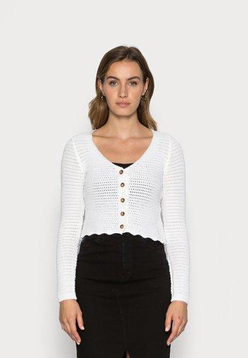 CARDIGAN GRACE - Cardigan - white