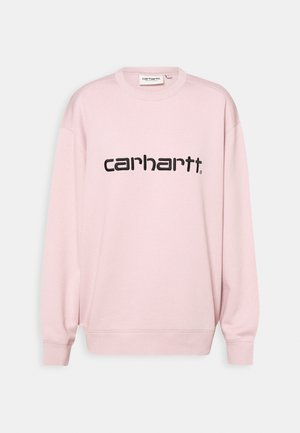 Sweatshirt - frosted pink/black