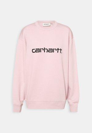 Sweatshirt - frosted pink/black