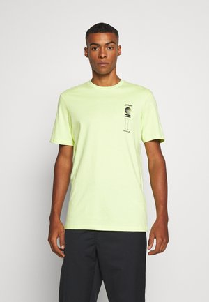Print T-shirt - fluro green/phaze