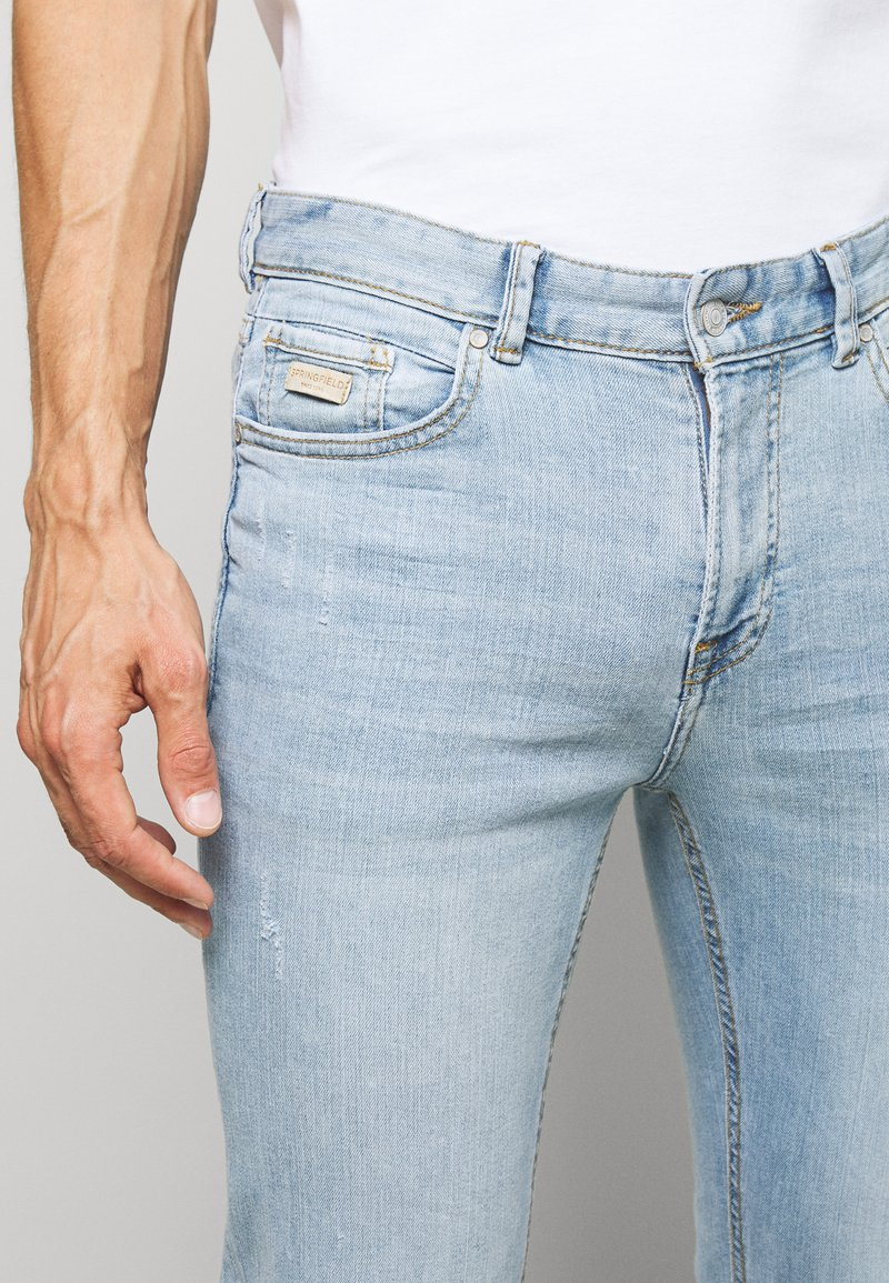 Springfield Light Claro Slim Fit Jeans Light Blue Light Blue Denim Zalando Ie