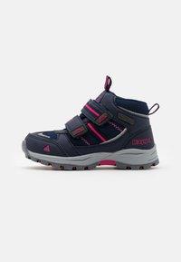 Kappa - HOVET TEX UNISEX - Hiking shoes - navy/pink - 0