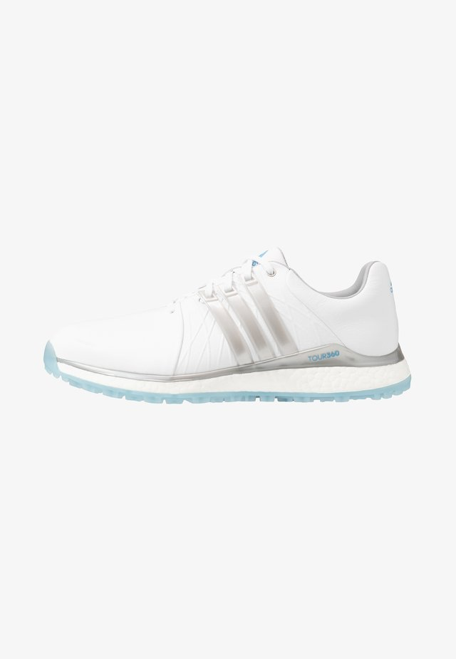 TOUR360 XT-SL - Golfkengät - footwear white/silver metallic/team light blue