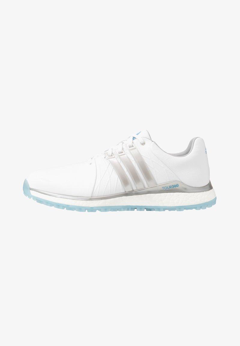 adidas Golf - TOUR360 XT-SL - Zapatos de golf - footwear white/silver metallic/team light blue