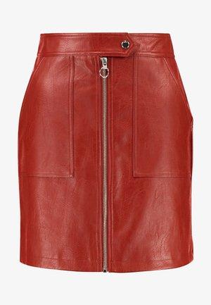 ONLABIGAIL SKIRT - Mini skirt - burnt henna