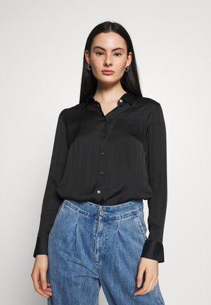 DILLON - Button-down blouse - black