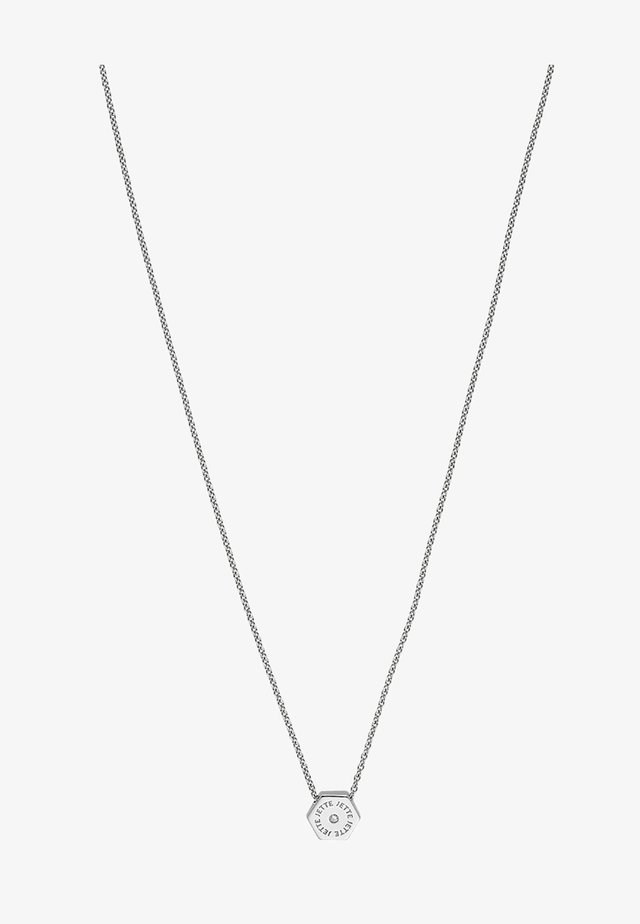 HEXAGON - Necklace - silver-coloured