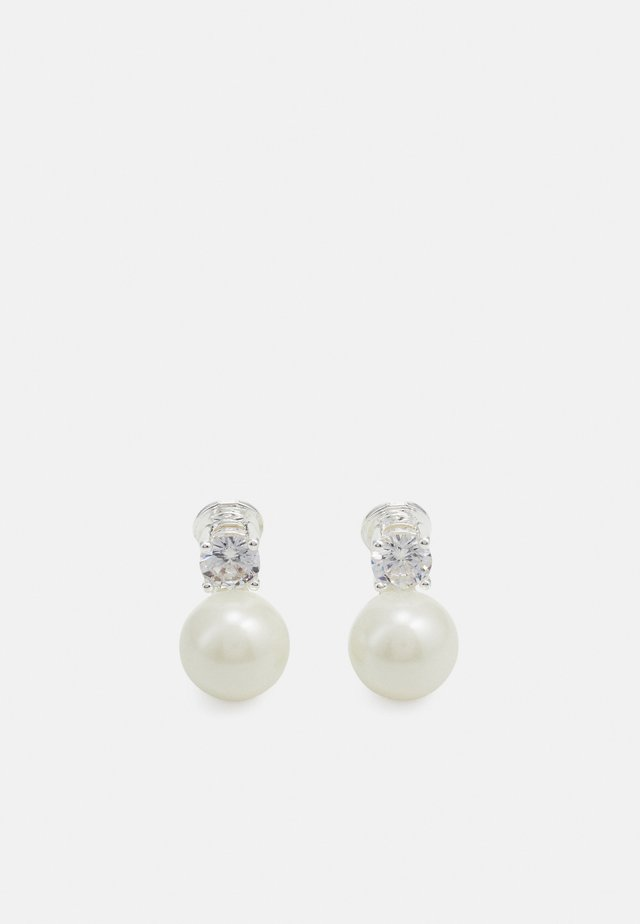 Náušnice - silver-coloured/white