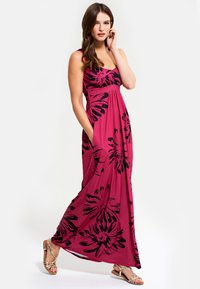 HotSquash - EMPIRE - Długa sukienka - red with black flowers - 0
