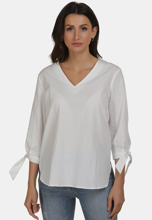 BLUSE - Blouse - weiss