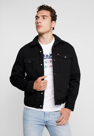TYPE 3 SHERPA TRUCKER - Chaqueta vaquera - back denim