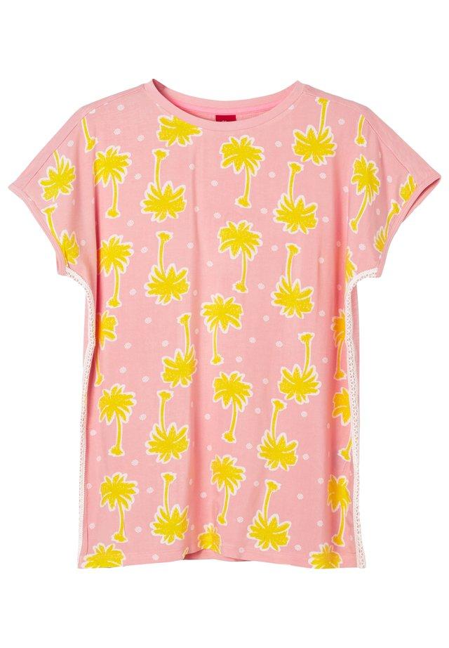 T-shirt con stampa - light pink aop