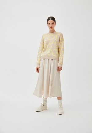 KATINKAA - A-line skirt - nude