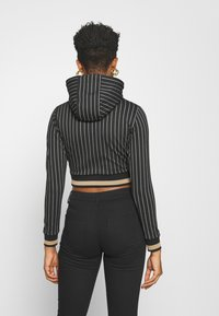 SIKSILK - BASEBALL STRIPE CROPPED HOODIE - Hoodie - black - 2