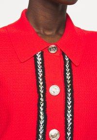 Pinko - FOOTBALL ABITO STRETCH - Shirt dress - red - 4