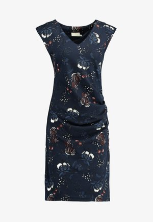 MALLY INDIA DRESS - Shift dress - midnight marine