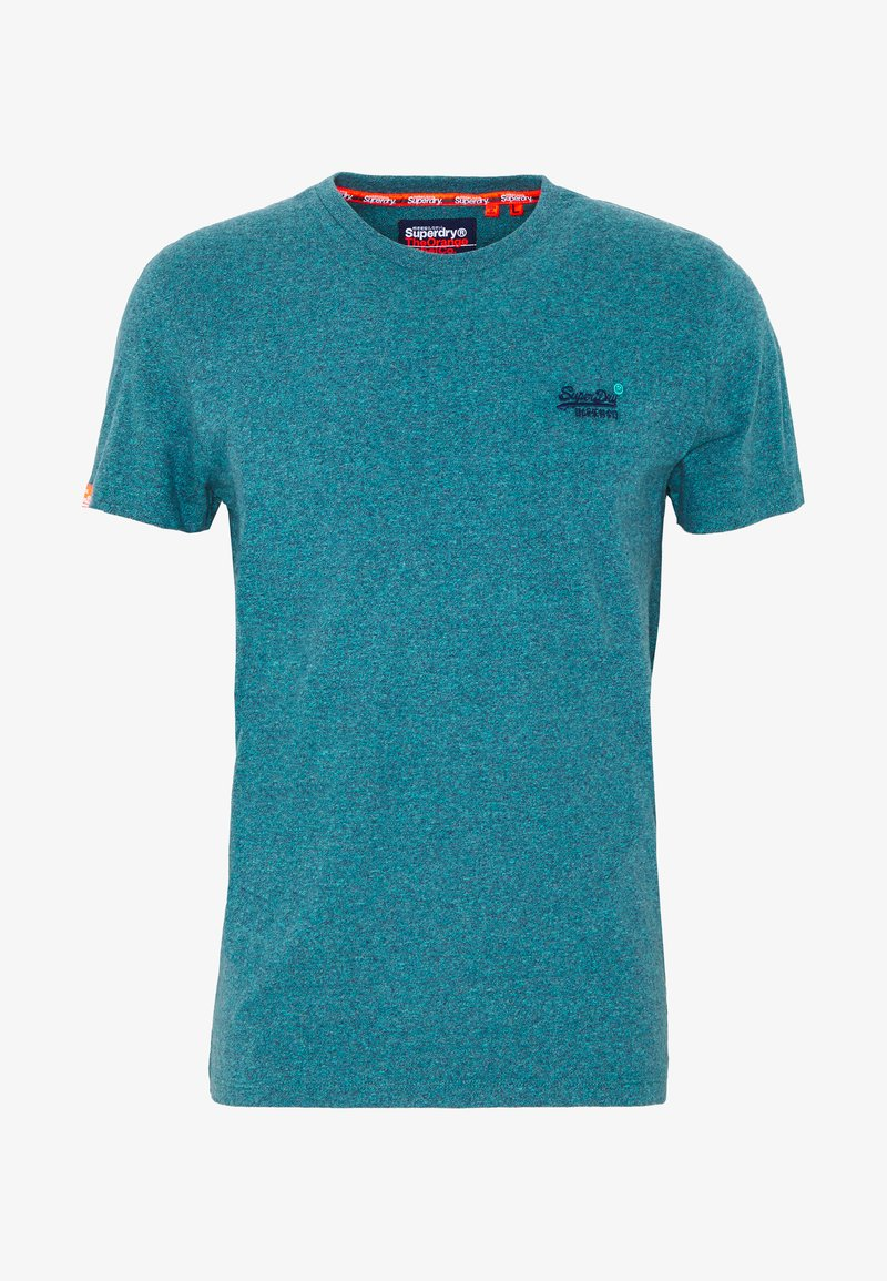 Superdry - VINTAGE EMBROIDERY TEE - Print T-shirt - pool blue/navy grit