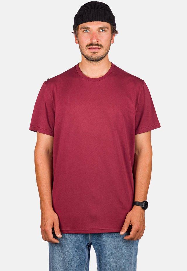 Basic T-shirt - oxblood red
