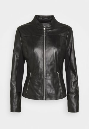 LILOVA - Leather jacket - black