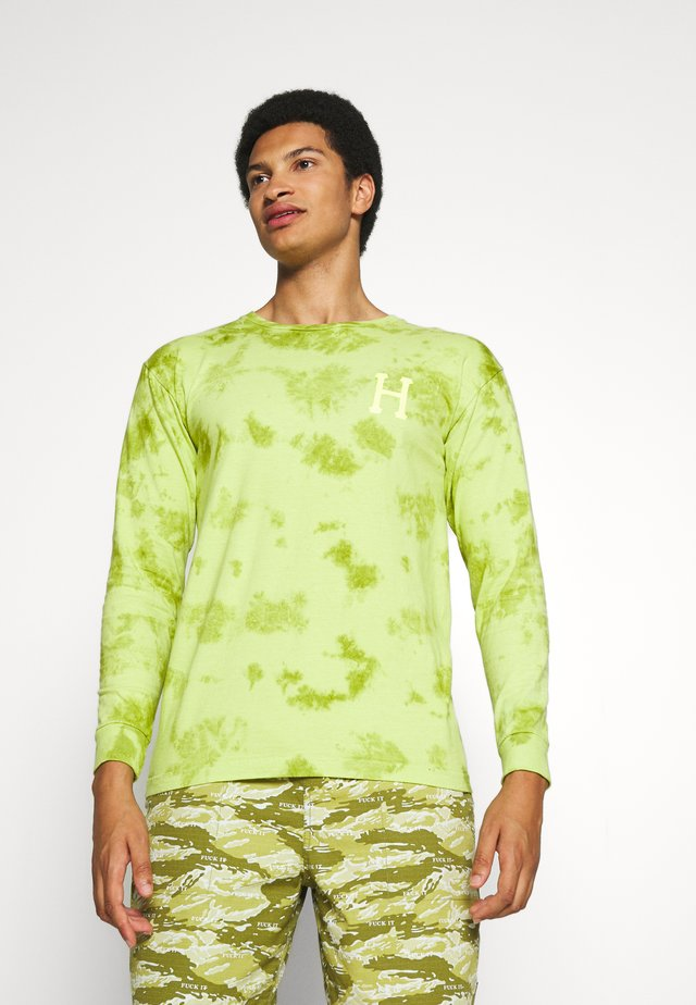 CLASSIC WATERCOLOR TEE - Topper langermet - safety green