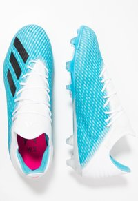adidas Performance - X 19.2 FG - Moulded stud football boots - bright cyan/core black/shock pink - 1