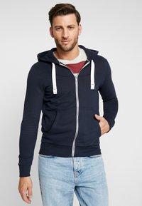 TOM TAILOR DENIM - CUTLINE  - Zip-up hoodie - sky captain blue - 0