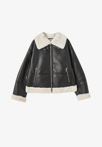 PULL&BEAR - Faux leather jacket - mottled black - 5