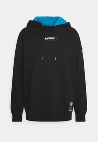 Afends - CONSPIRACY PULL ON HOOD UNISEX - Mikina - black - 0