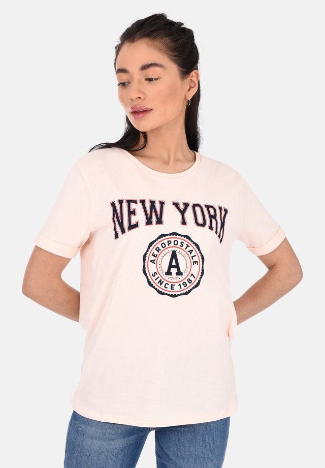 NEW YORK  - T-shirt con stampa - pink