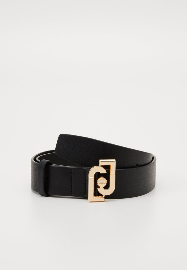 CINTURA LOGO BUCKLE - Belt - nero