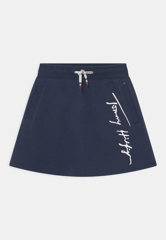SCRIPT SKATER - Mini skirt - twilight navy