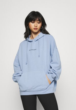 BRANDED BASIC HOODY - Sweatshirt - blue