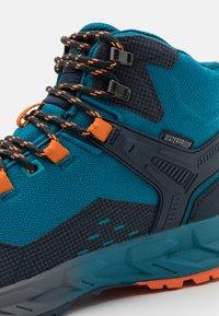 Hi-Tec - VERVE MID WP - Hiking shoes - navy/sapphire/orange - 5
