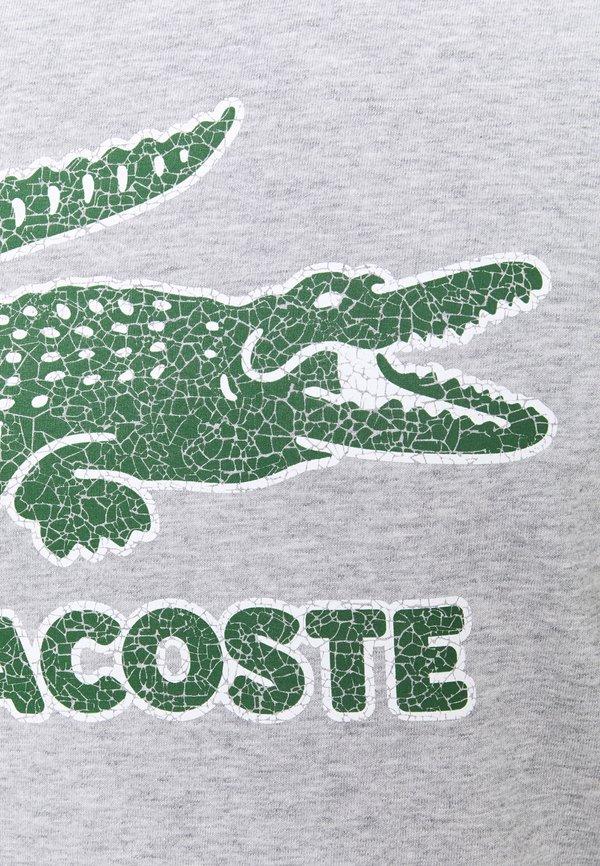 Lacoste T-shirt z nadrukiem - silver chine/jasnoszary Odzież Męska IATZ
