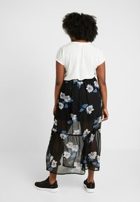 Simply Be - DOUBLE SPLIT GEORGETTE SKIRT - Maxi skirt - black - 2