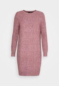 Vero Moda - VMDOFFY O-NECK DRESS - Pletené šaty - cabernet/black melange - 5