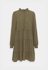 Vero Moda - VMZIGGA FRILL - Shirt dress - ivy green - 4