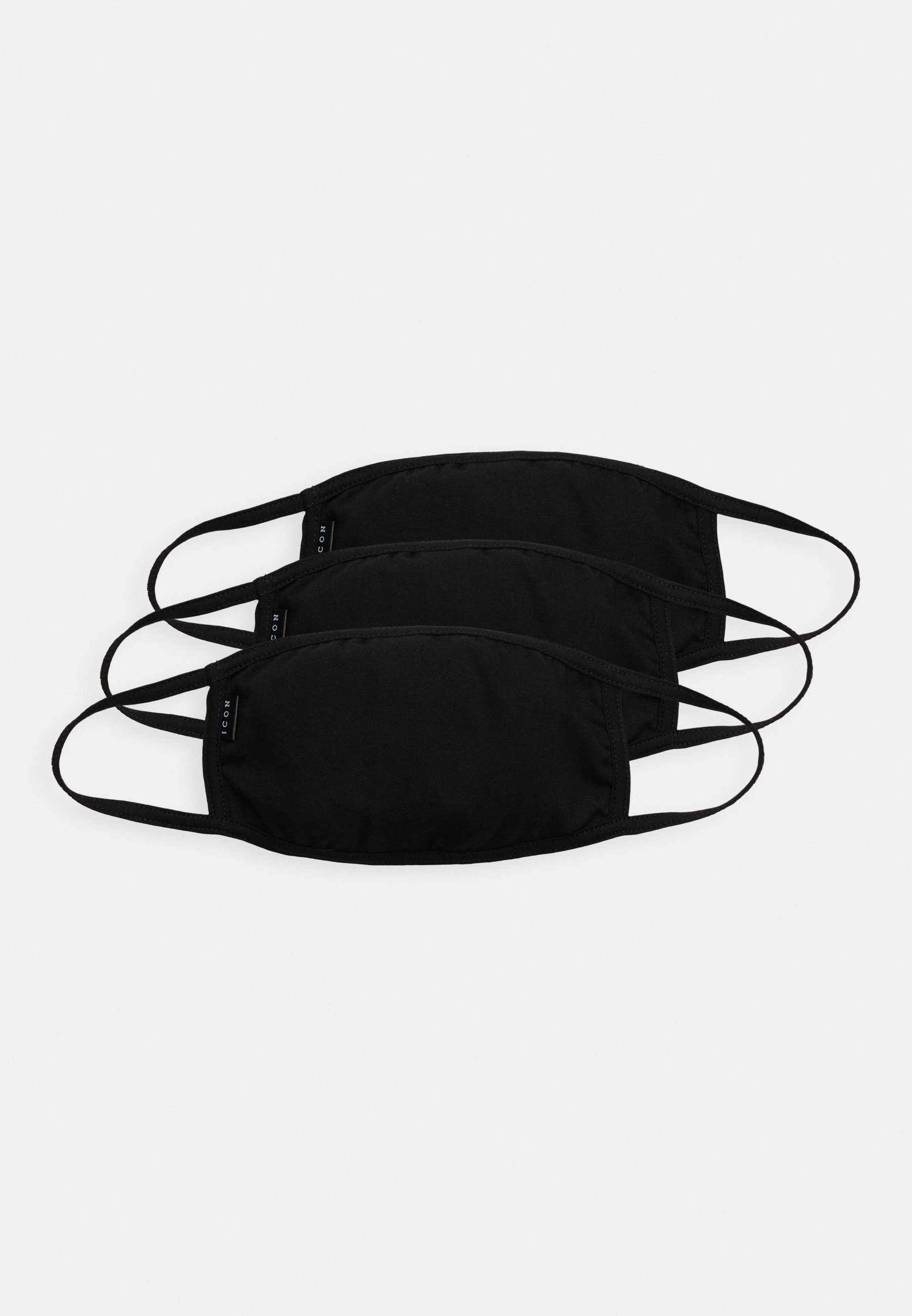Icon Brand COMMUNITY MASK 3 PACK - Munnbind i tøy - black/svart CGm7pIx94cqwE8c