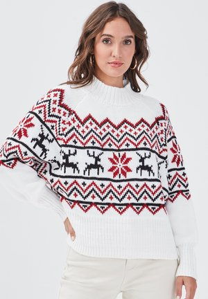 CHRISTMAS PULLOVER - Jumper - off-white