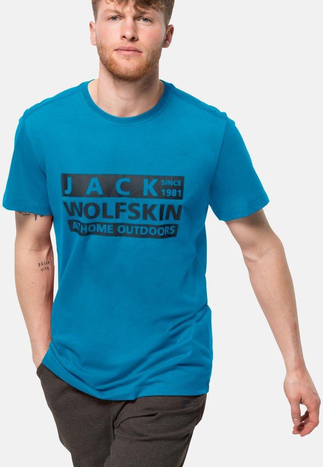 Print T-shirt - blue jewel